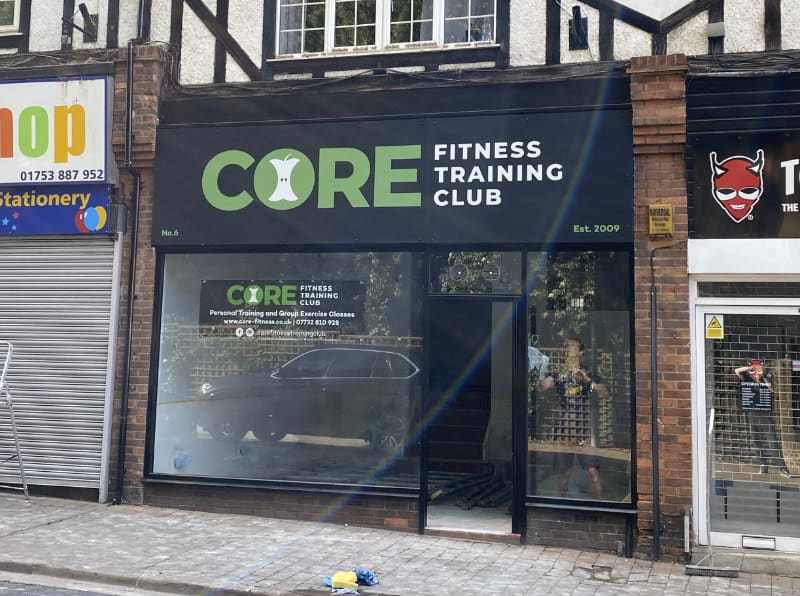 Core Fitness Sign